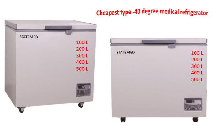 Chest Type Ultra Low Temperature Freezer -40 Degree With Different Capacity