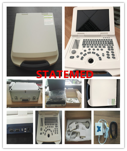 Laptop Black / White Ultrasound Scanner Machine With 9 Different Languages