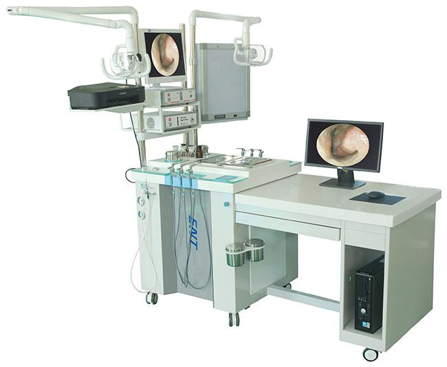 Double Single Station ENT Treatment Unit For Ears / Nose Surgery 1655 * 730 * 885mm