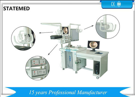China Double Single Station ENT Treatment Unit For Ears / Nose Surgery 1655 * 730 * 885mm supplier