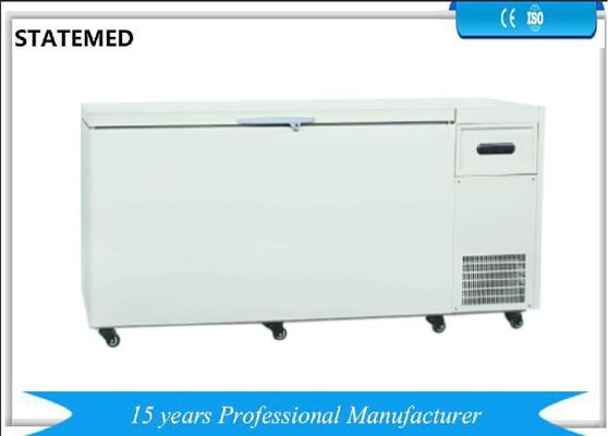 China Chest Type Horizontal Laboratory Deep Freezer Ultra Low Temperature 480L With Sound Alarm Function supplier