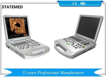 3D 4D Color Portable Doppler Ultrasound Machine 256 Scales With Silver Color