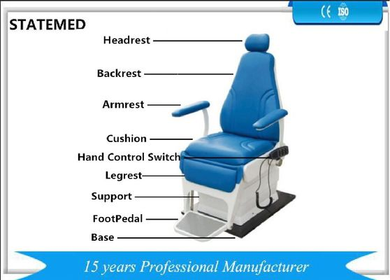 China 360° Railing Adjusting Scope Electrical ENT Examination Chair With Over 150mm Shifting Scope Of Cushion factory